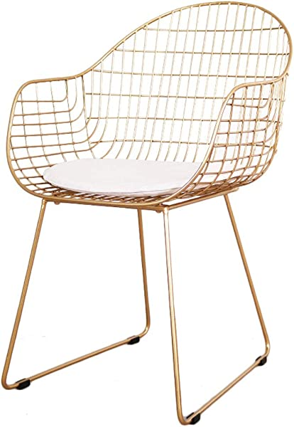 Nordic Hollow Out Barbed Wire Dining Chair Personality Leisure Restaurant Chair Living Room Metal Chair Max Load 150KG