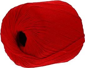 EXCEART Katoen Breien Draad Rode Gehaakte String Cords Quilten Borduren Threads Diy Gehaakte Katoen Garen Roll Voor Kledin...