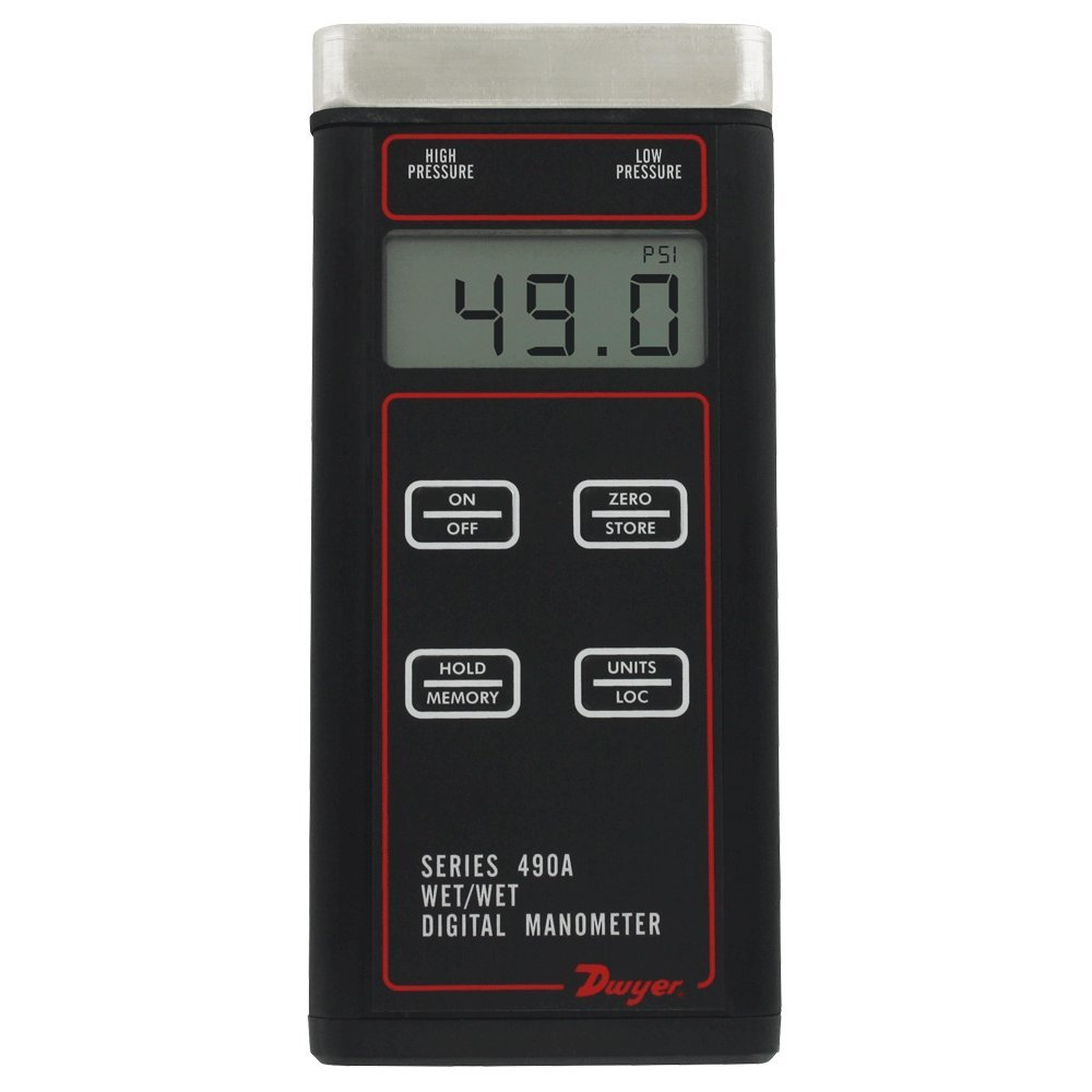 Dwyer 490A Wet Handheld Digital Manometer 490A-3 to p Max 44% OFF Charlotte Mall 0 50