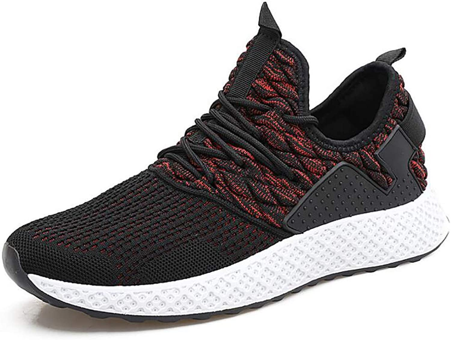 Sneakers Men's Flying Woven Breathable Casual Mesh shoes Trend Black Low To Help Jogging Men's shoes