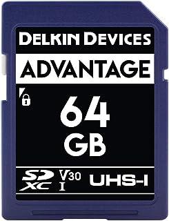 Delkin Devices 64GB Advantage SDXC UHS I (V30) Memory Card (DDSDW63364GB)