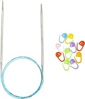 Sponsored Ad - addi Knitting Needles Circular Rocket Turbo Lace Blue Cord 40 inch (100cm) US 07 (4.5mm) Bundle with 10 Art...