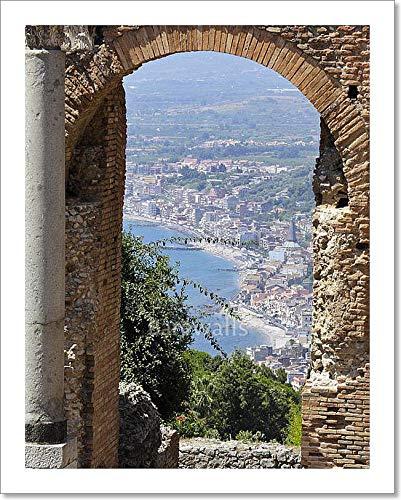 Barewalls Amphitheatre at Taormina, Sicily, Italy Paper Print Wall Art (10in. x 8in.)