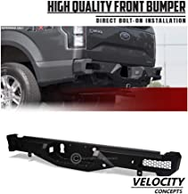 Velocity Concepts HD Steel Rear Bumper Raptor Style Full Width Black 2015-2018 for Ford F150