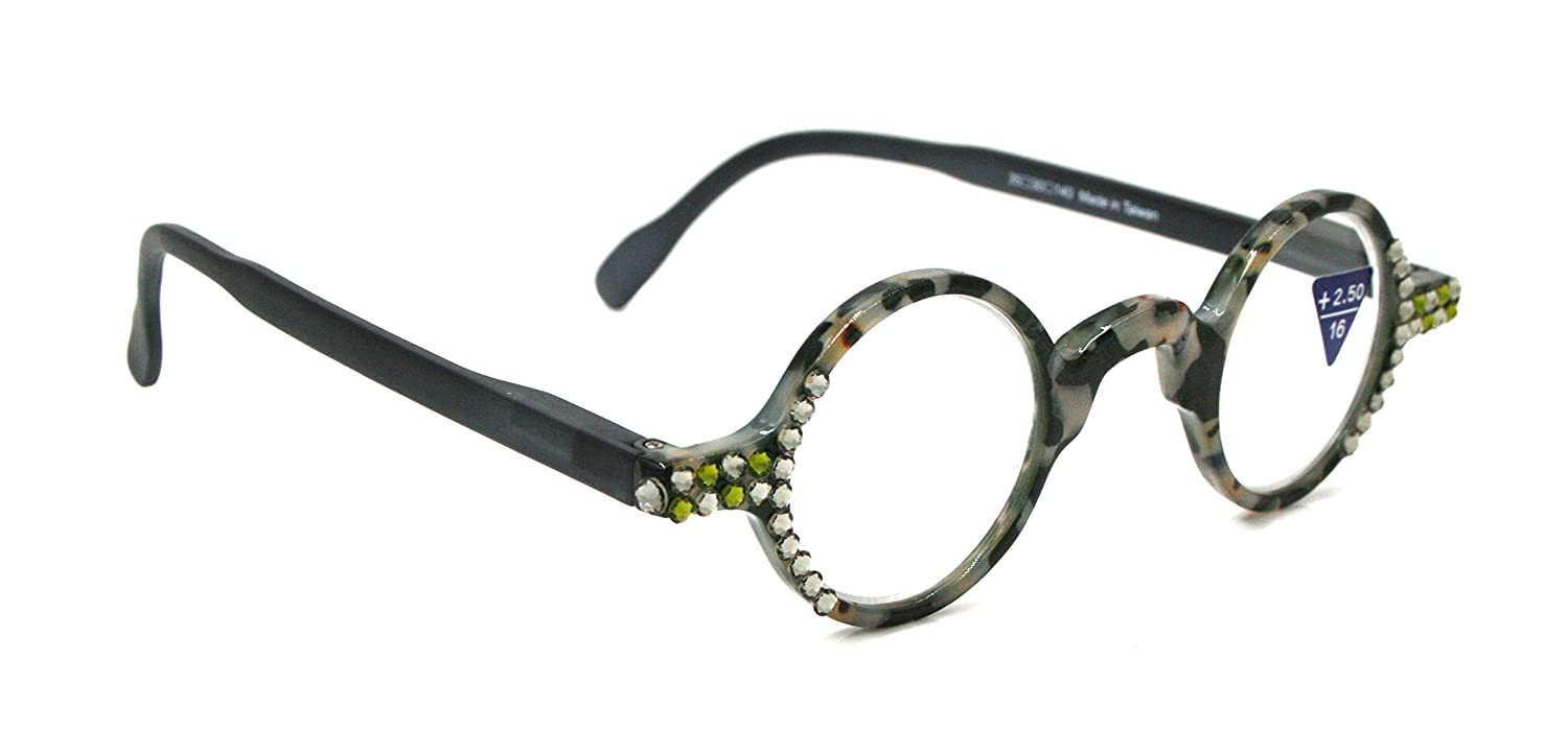 Picasso Round Virginia Beach Mall Recommended Women Bling Reading Adorned Di with Black Glasses