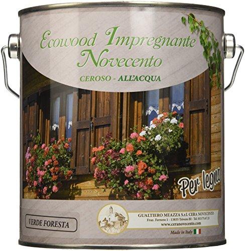 Cera Novecento 9157 Impregnante Ceroso all Acqua, Verde Foresta, 2.5 litri
