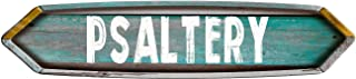 Psaltery Double Pointed Ends Teal Painted Wood Look Decal Bumper Sticker for use on Any Smooth Surface