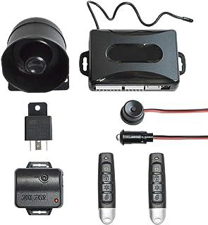 BANVIE 1 Way Car Security Alarm & Keyless Entry System with Shock Sensor
