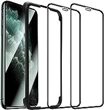 【二枚入り】【ガイド枠付き】iPhone11 Pro/iPhoneX/Xs(5.8インチ)用 ガラスフィルム 保護フィルム 日本旭硝子 【ケースに干渉しない】2.5Dラウンドエッジ加工 完全保護 高硬度9H 気泡ゼロ