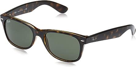 RAY-BAN RB2132 New Wayfarer Sunglasses, Tortoise/Green, 55 mm
