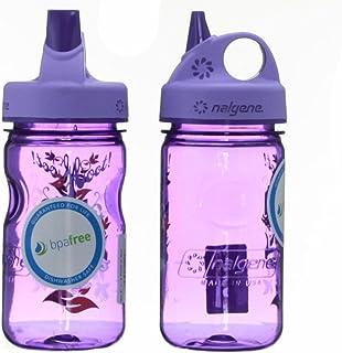 Nalgene Tritan Kid's Grip-n-gulp Water Bottle 12oz Purple Hoot Design 2 Pack 7.5 Inches Tall By 3 Inches in Diameter