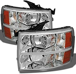 For Chevy Silverado Pickup Truck Replacement Headlights Driver + Passenger Side Replacement Set