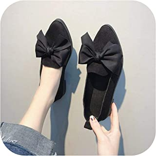 Love Shoes Women 2020 Spring and Autumn New Students Casual Flat Shoes Fashion Bow Scoop Shoes Beanie Shoes