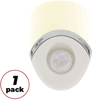Amerelle Motion Sensor Night Light, 1 Pack – Plug In Motion Sensor Light Automatically Activated When Movement is Detected – LED Lights, Saves Energy, Wide Detection Zone – White Finish, 73092CC