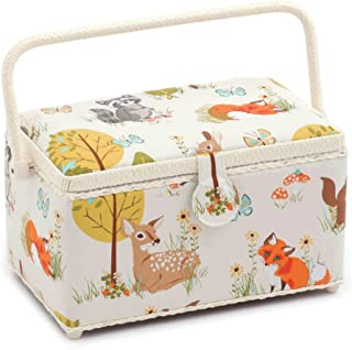 Hobby Gift 'Woodland' Deep Rectangle Sewing Box 15 x 30 x 17cm (d/w/h)
