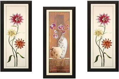SAF Flower Floral Painting(Set of 3, 18 x 2 x 40 cm) SAONFD23