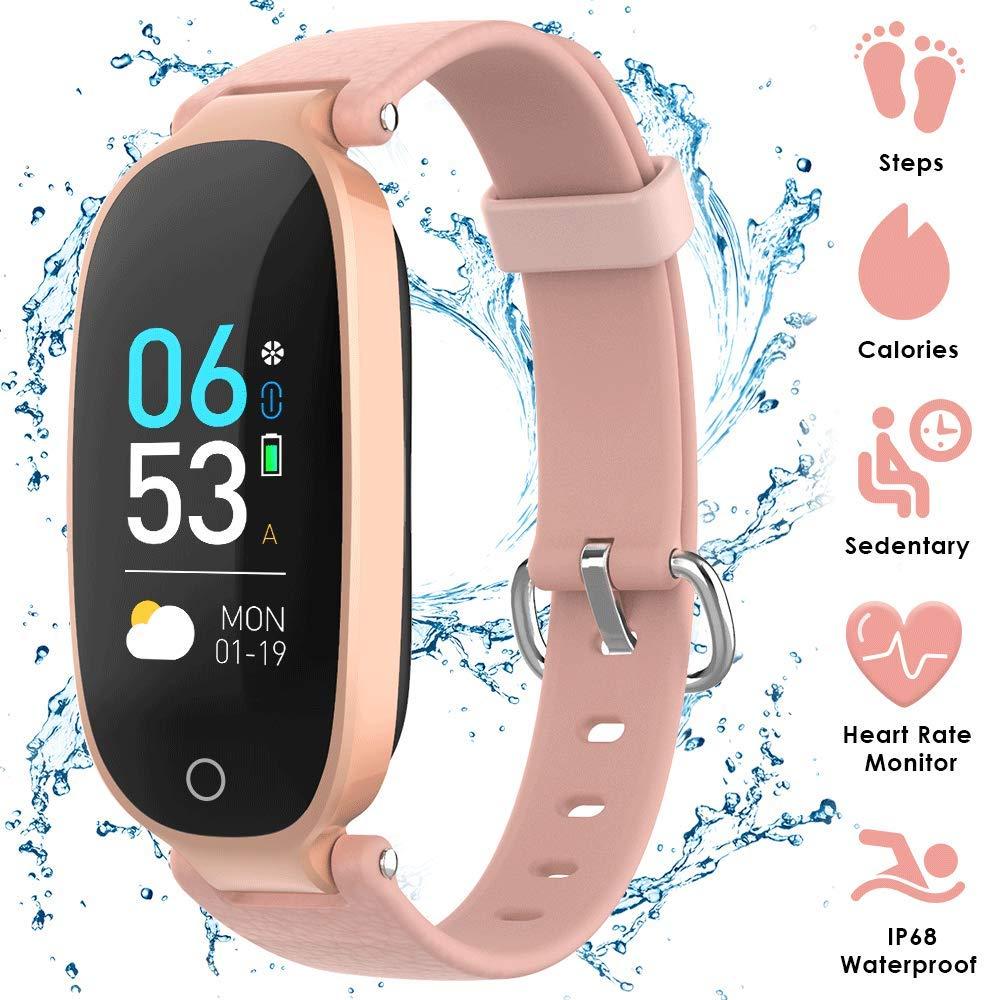 AGPTEK Pulsera Actividad Inteligente, Reloj Inteligente con Pantalla en Color, GPS, Pulsómetro, 16 Modos de Deporte, Monitor de Sueño para Mujer, Rosa: Amazon.es: Deportes y aire libre