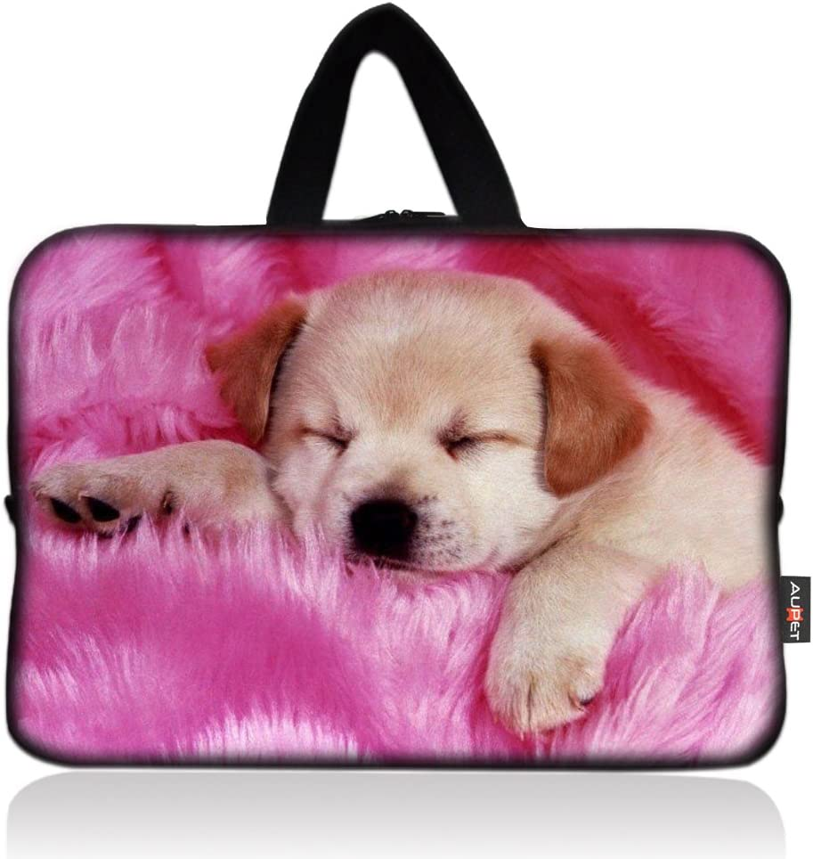 AUPET Pink Dog Cheap mail order shopping low-pricing Universal 6~7 Neoprene Tablet Zippe inch Portable