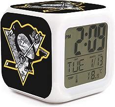 Pittsburgh Penguins Sport Alarm Digital Clock 7 LED Color Changing Light