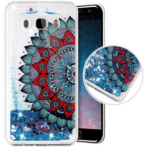 Funda Compatible con Samsung Galaxy J5 2016.Funda Carcasa Transparente Brillo Glitter Brillantes...