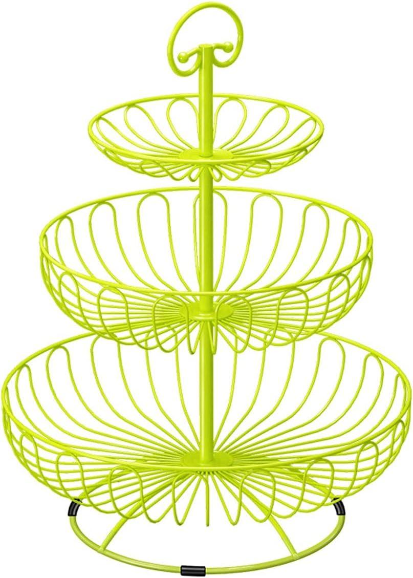ZQYYUNDING Fruit Basket Iron Three Di Layer Sales results Arlington Mall No. 1 Storage