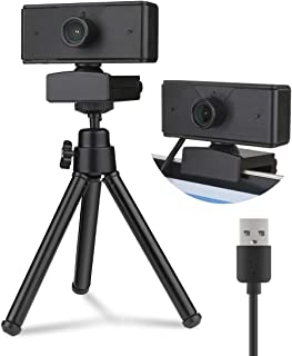 1080P Webcam with Built-in microphone,Full HD Adjustable Web Camera with cover and Tripod for Laptop,Desktop,Computer,PC /...