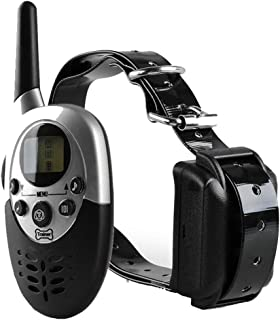Z 1000 Meters Long Waterproof Pet Dog Training Collar 2 Dogs, Rechargeable Waterproof, Vibration LED Lighting, LCD Display User-Friendly, Suitable for Small and Medium-Sized Dogs.