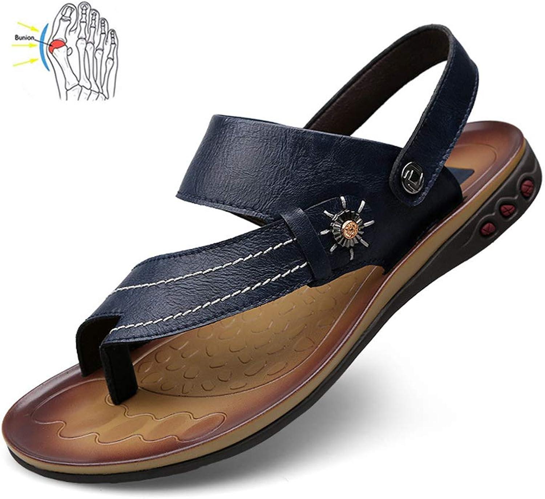 WAMK Herren Sandalen Echtes Leder Leder Herren Sommer Schuhe Freizeit Hausschuhe Flip-Flops Herren Bequeme Big Toe Korrektur Sandale  genieße 50% Rabatt