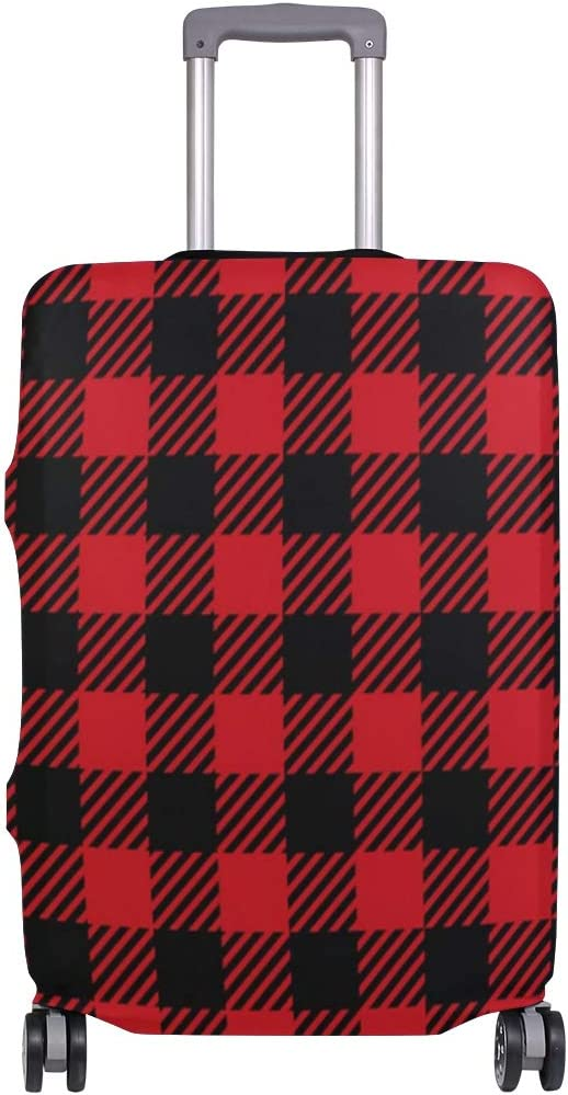 Suitcase Cover safety Red Fixed price for sale Black Buffalo Lugga Plaid Elasticity Seamless