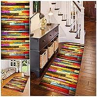玄関マット 80x480cm 洗える 滑り止め付 階段カーペットマット オールシーズン モダン シンプル キッチン、廊下、玄関などいろんな場所で使用可能, C