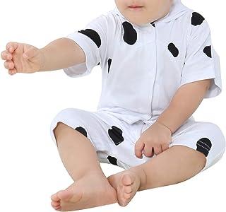 Michley Baby Body Strampler Unisex 100% Baumwolle Kurzarm Süßes Tier Jumpsuit für Jungen und Mädchen, 3-18 Monate