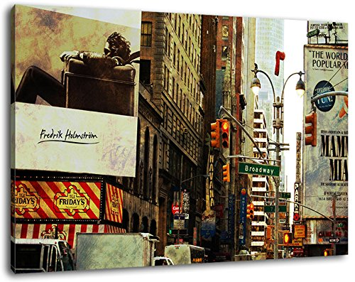 Dark Avatar afbeelding op canvas - 100x70 cm kant-en-klare kunstdruk afbeeldingen als wandafbeelding - Goedkoper dan olieverfschilderij of schilderij - GEEN poster of affiche
