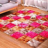 EVAフォームベビープレイマット、絞り染めの豪華なパズルマット-床の保護、ガレージエクササイズヨガプレイルーム用-ゴージャスな家の装飾,Brown+khaki+pink,10