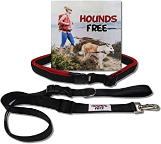 Hounds Free | Hands-Free Dog Leash with Neoprene-Lined Belt for Dog Walking, Hiking and Running
