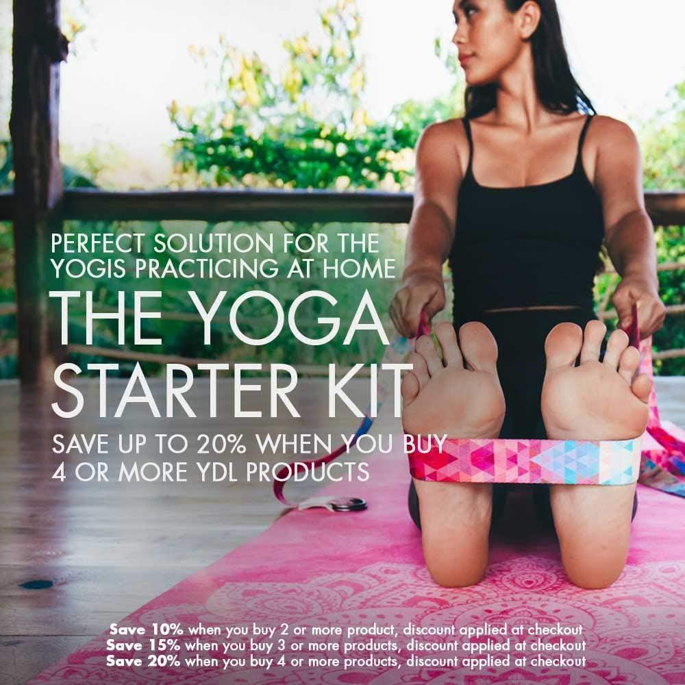 Qualit/é sup/érieure Imprim/és /écologiques 2.4m Yoga Design Lab Sangle de Yoga Extra-Longue Boucle r/églable Douce
