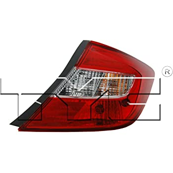 TYC 11-6165-91-1 Honda Civic Right Replacement Tail Lamp