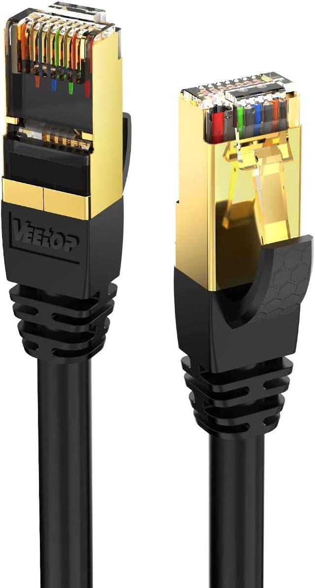 30m 98ft 1 Pack CAT8 Classic Arlington Mall Ethernet Veetop 2000Mhz S High Cable 40Gbps