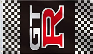 GTR Racing Automotive Flag 3x5 Ft Large,Vivid Color and UV Fade Resistant-Indoor Outdoor Car Banner Great for College Dorm...