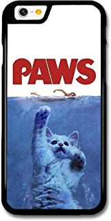 Paws Funny Cat Movie Poster Shark Parody case for iPhone 6 6S