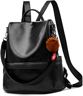 Anti-robo Mujer Mochila de Cuero de pu mochila de Bolsa de