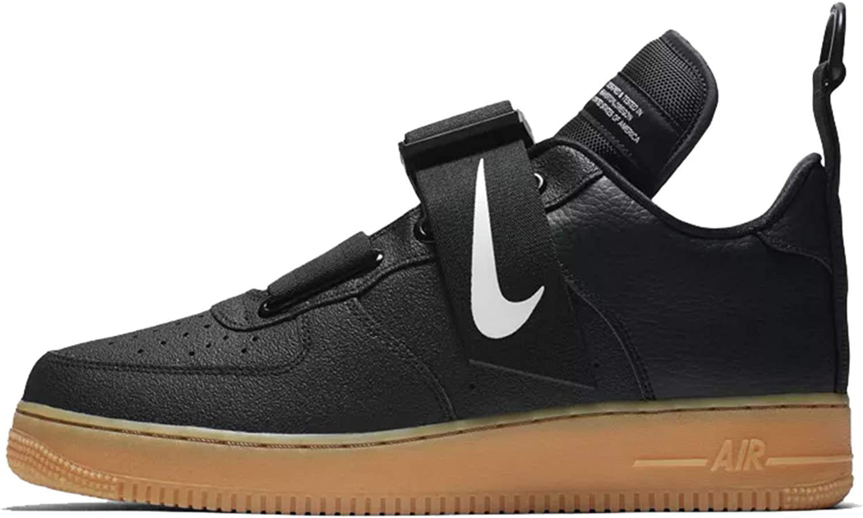 Nike Scarpe Uomo Sneaker Air Force 1 Utility in Pelle Nera AO1531 ...