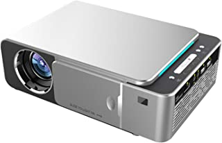 Mini T6 Wireless Projector   LED LCD Wifi mirror version Home Theater Video Projector for Movie/Gaming/File Sharing   1280 x 720P HD Resolution   Portable Projector   Supports Wired System, USB & More