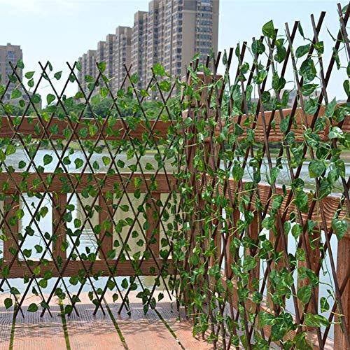 Knowled Künstliche Rebe Ausziehbarer Zaun,40cm künstliche efeu Bambushecken-UV-geschützter Sichtschutz Gartenzaun Hinterhof Home Decor Greenery Walls Künstliche Pflanzen bearable