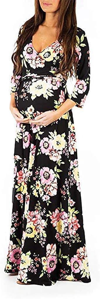 Samore Schwangerschaftskleid Umstandskleid Damen Frauen Mutterschaft Spitzenkleid Blumenspitze H/ülsen Schwangere Elegante Fotografie Schwangerschafts Krankenpflege Strandkleid Maxi Kleid
