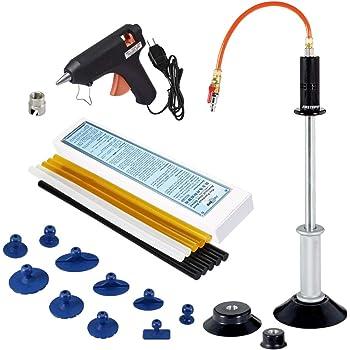 FIRSTINFO Pneumatic Auto Body Dent Puller/Air Suction Vacuum Slide Hammer Paintless Dent Repair Dent Remover Car Dent Repair with 10 Glue Tabs and 60W Glue Gun/Sticks Kit