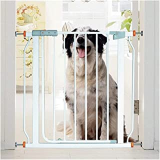 LELEGuardrail Extra Wide Expandable Baby Pet Safety Gates Hole Installation With Normally Opens Device Fence For Stairs Fireplace Isolation Barrier  Color High78 width  Size 160-167cm