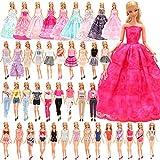 Festfun - Set di 16 vestiti per bambola, 5 abiti, 5 magliette con 5 pantaloni, 3 abiti, 3 costumi da bagno per bambola, ragazza, da 11,5 pollici