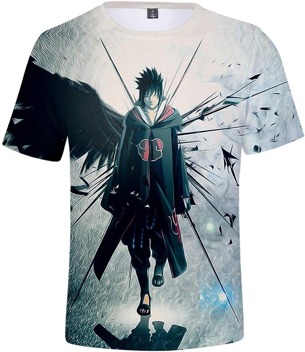 JOAYIN Cool Camiseta de Anime Anime T-Shirt 3D Patrón Impreso Verano Animación Ninja Casual Manga Corta para Hombre y Niño