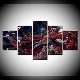 AIXYX Canvas Printed Wall Art 5 Panel Overwatch Genji and Hanzo Pictures Home Decor Bedroom Game Modular Poster Artwork-20x35cmx2,20x45cmx2,20x55cmx1