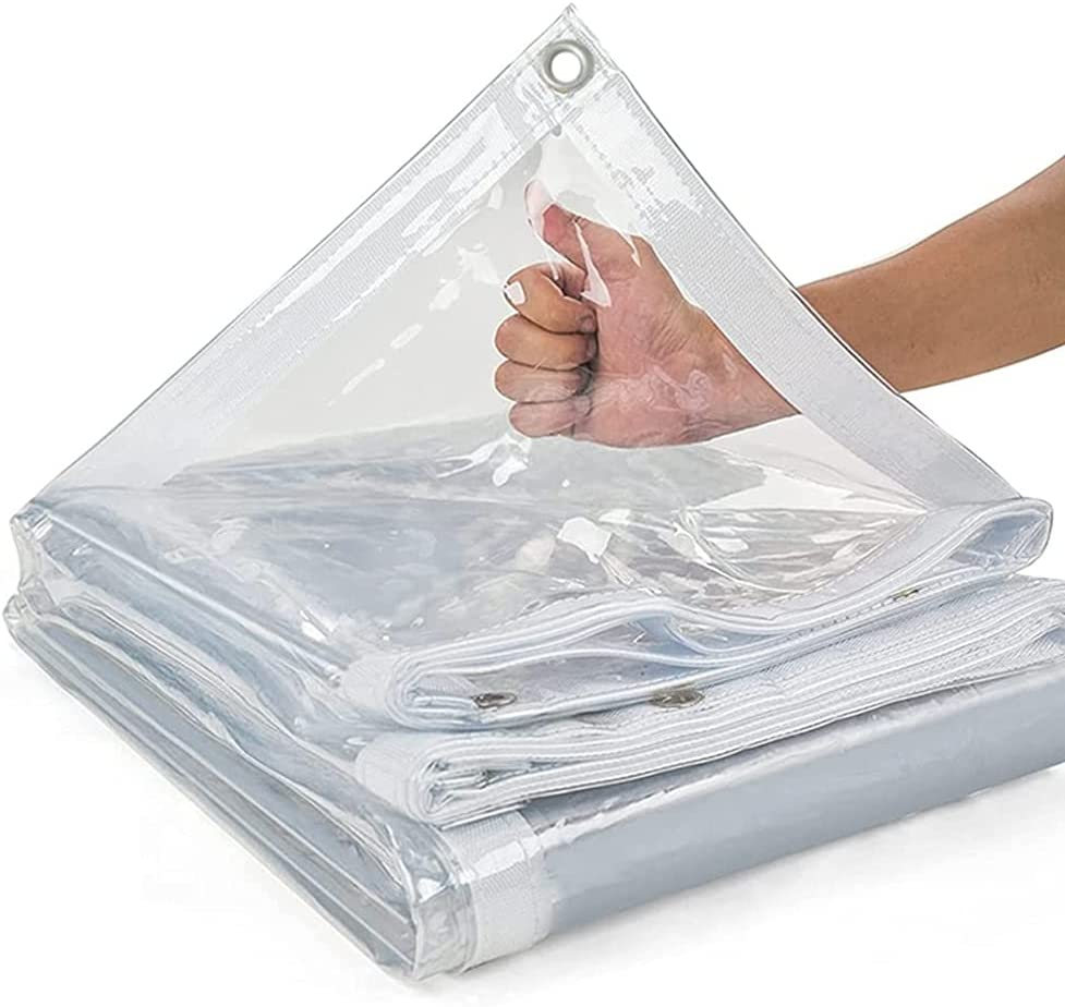 LSXIAO-Tarpaulin New product! New type Heavy Duty Clear Vinyl Outdoor Tarp Wate Cover Japan's largest assortment